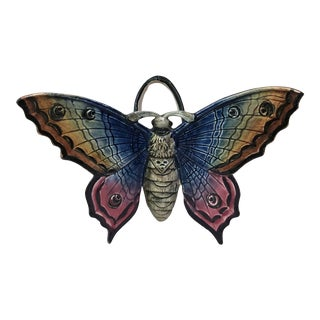 Majolica Butterfly Wall Pocket Fives Lille, Circa 1900 For Sale