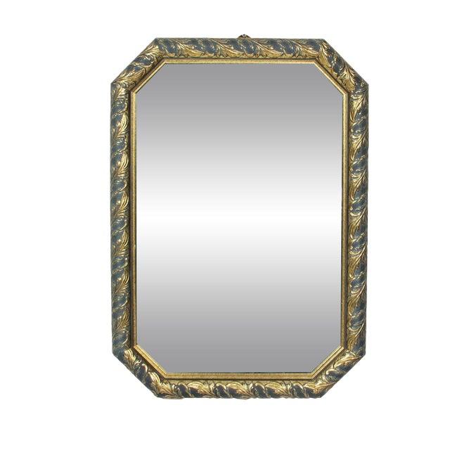1970s Vintage Black & Gold Octagonal Hall Mirror - Image 1 of 3