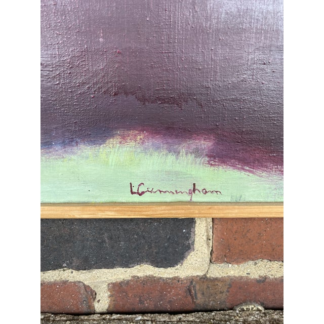 Mid-Century Modern Signed Abstract Painting For Sale - Image 4 of 7