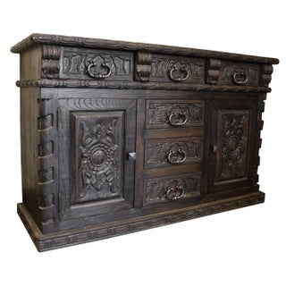 French Louis Handcrafted Solid Wood Buffet Sideboard Preview