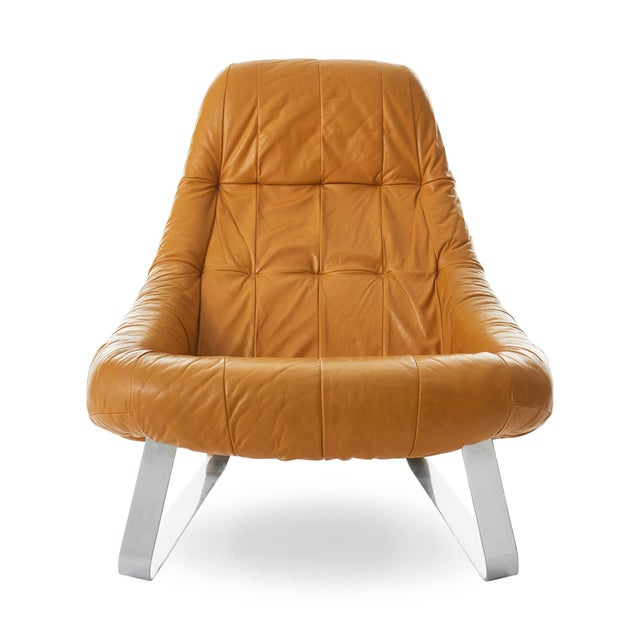 Percival Lafer 'Earth' Chrome & Leather Lounge Chair For Sale - Image 9 of 9