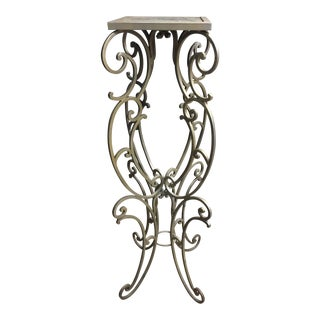 Wedding Interior Pedestal Wrought Iron Bespoke Custom Pedestal # 2 For Sale