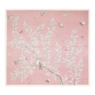 Chinoiserie Art in Blush For Sale