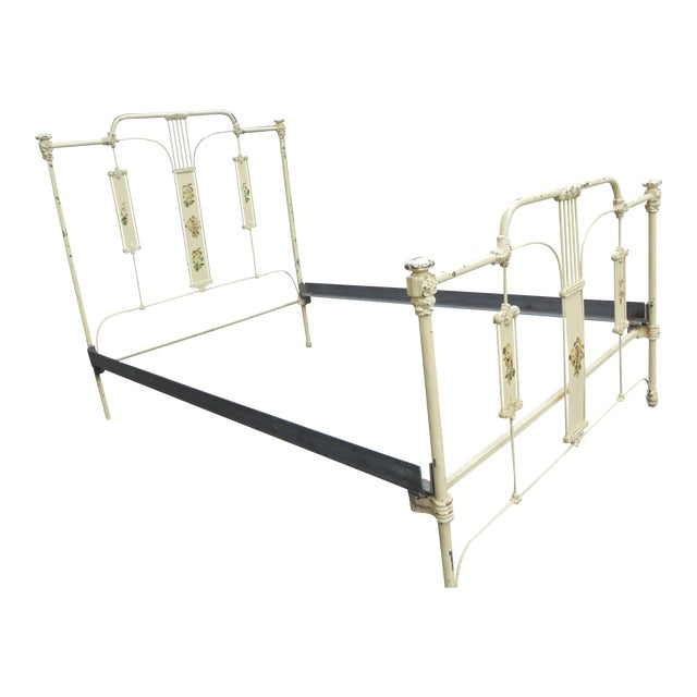 Antique Iron Full Bed - Image 1 of 12
