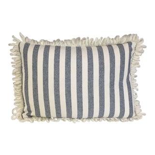 Kim Salmela Blue & White Striped Pillow
