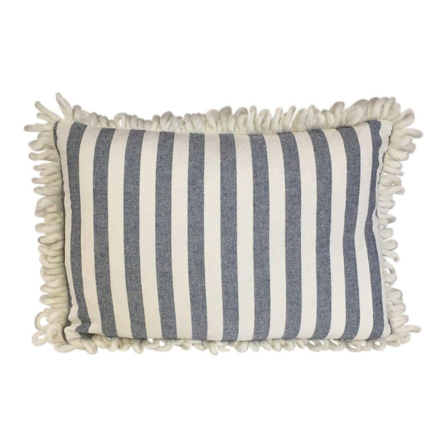 Kim Salmela Blue & White Striped Pillow - Image 1 of 3