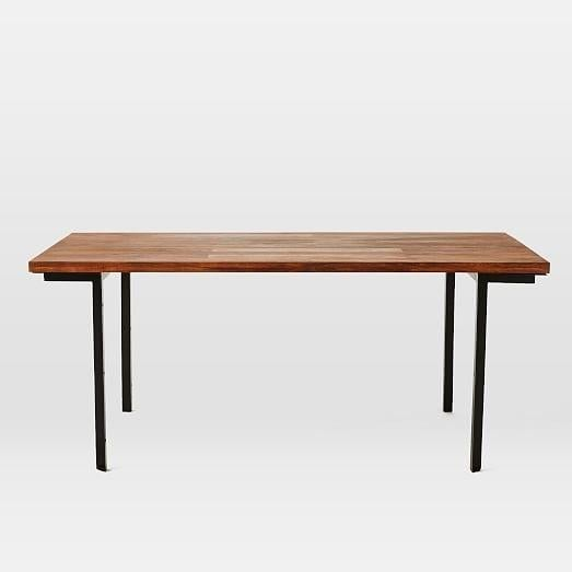 West Elm Wood & Metal Industrial Dining Table - Image 3 of 6