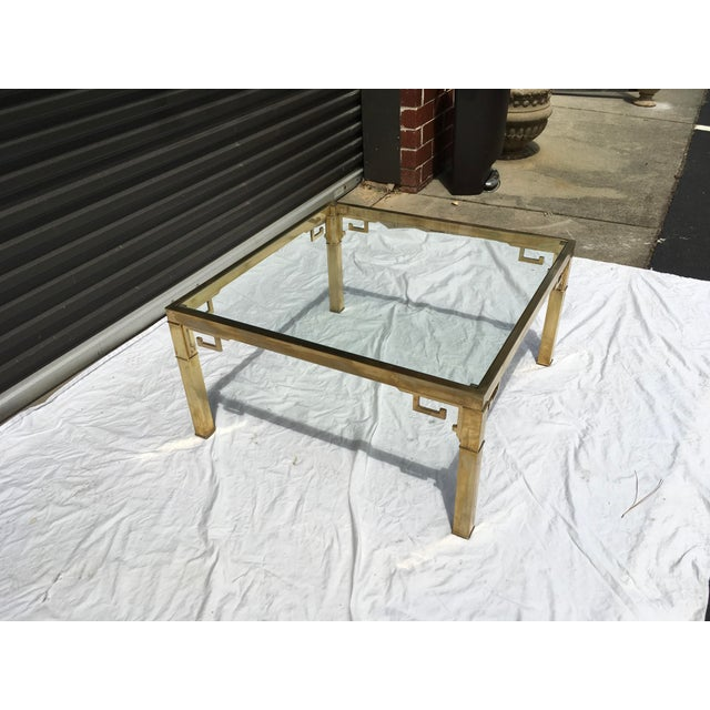 Mastercraft Italian Brass Coffee Table For Sale - Image 9 of 12