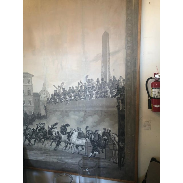 Paper Grisaille Panel Depicting Neapolitans Watching Horse Racing For Sale - Image 7 of 10