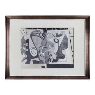 Le Corbusier Lithograph Gouache