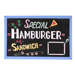 """Special Hamburger Sandwich"" Sign"