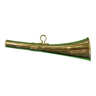 1950s Vintage Abercrombie & Fitch Chrome English Hunting Horn For Sale