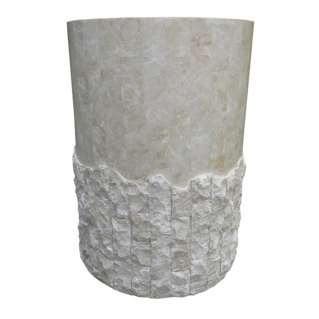 20th Century Vintage Marquis Collection of Beverly Hills Postmodern Tessellated Stone Pedestal / Pedestal Table Base For Sale - Image 11 of 13