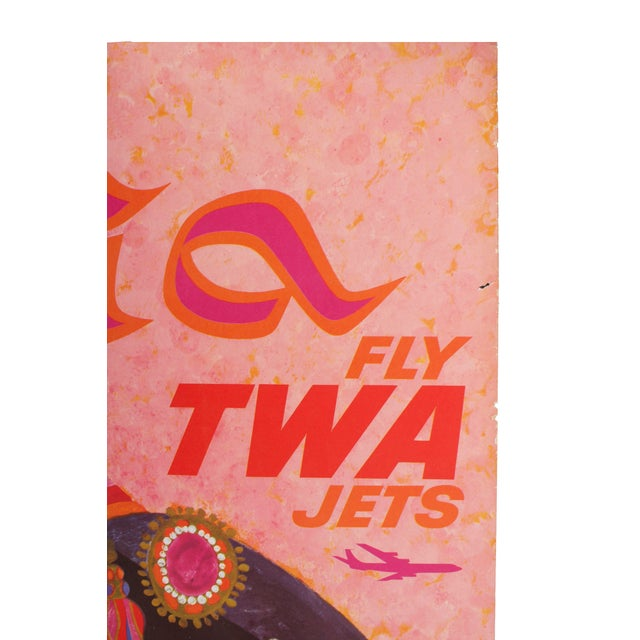 Original TWA Travel Poster - Image 4 of 5
