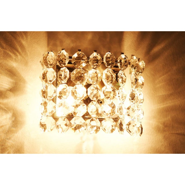 Mid-Century Modern Vintage Crystal Wall Lamp from Austria by Bakalowits, 1960s For Sale - Image 3 of 8