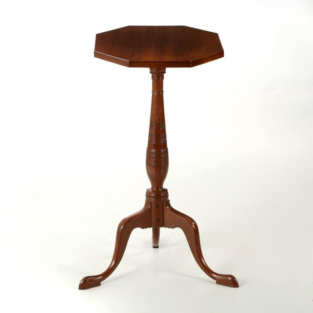 Mahogany 1805-15 American Federal Mahogany Tilting Candle Stand For Sale - Image 7 of 10