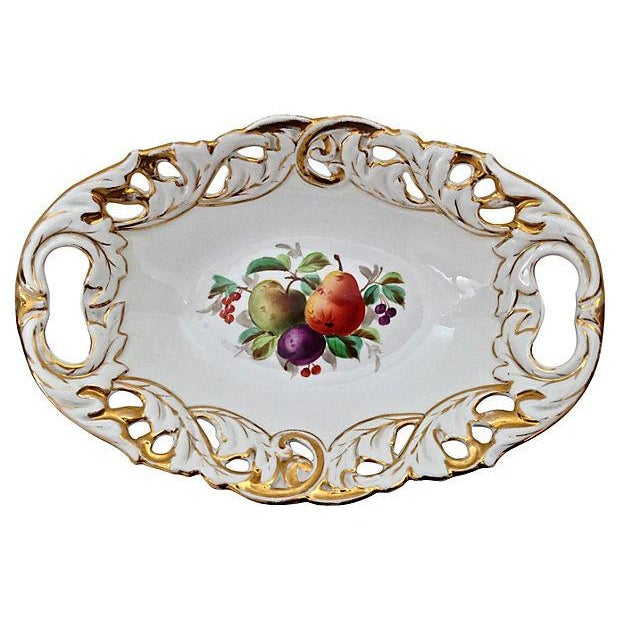 Antique Gilded Bowl With Handles - Image 3 of 6
