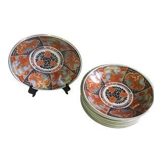 Vintage Imari Style Bowls- Set of 8 For Sale