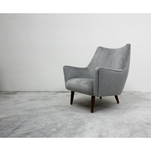 A beautiful Mid Century Danish lounge chair by Hans Olsen. Large enough and stylish enough to stand alone, this gorgeous...