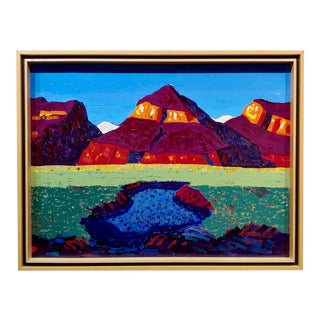 Conrad Buff Mountain & Lake Landscape Oil Painting For Sale