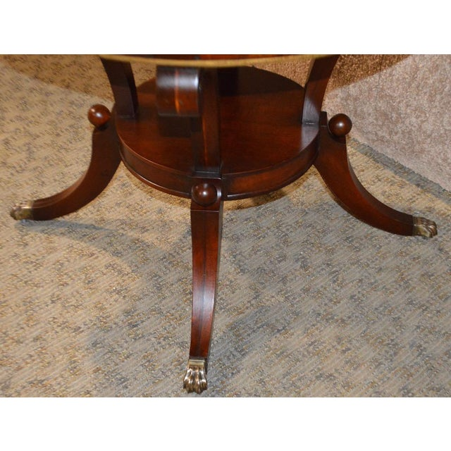 Mahogany Round Marble Top Table - Image 9 of 11