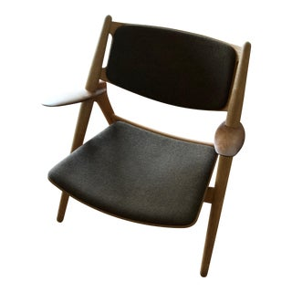 Mid-Century Modern Hans Wegner for Carl Hansen and Son Oak Frame Lounge Chair