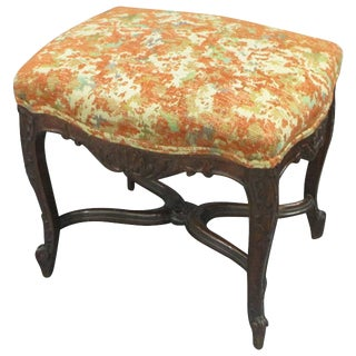 Regency Style Upholstered Bench For Sale