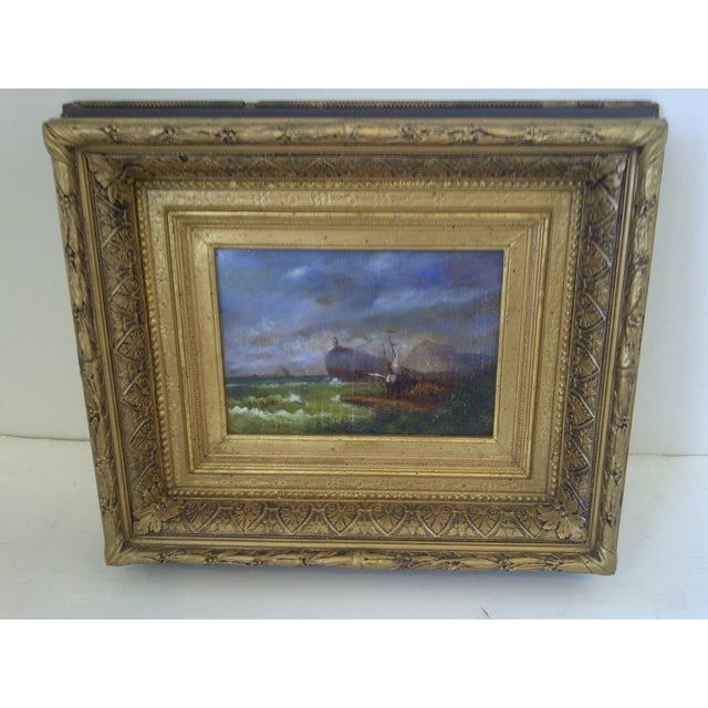 """Rustic Original Painting """"The Shipwreck"""", Circa 1840 For Sale - Image 3 of 8"""