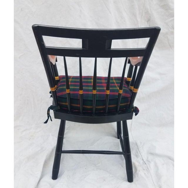 Harvard University Veritas Nichols & Stone Captain's Chair For Sale - Image 9 of 12