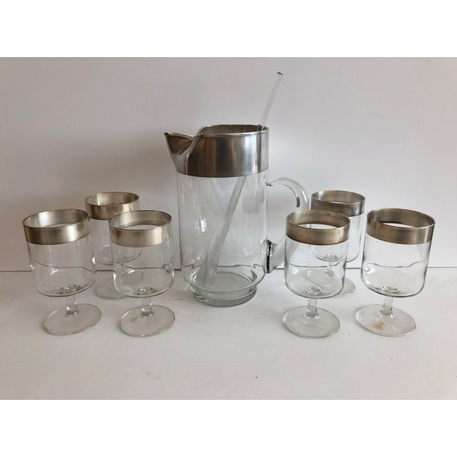 Mid 20th Century Dorothy Thorpe Allegro Cocktail Set For Sale - Image 5 of 6