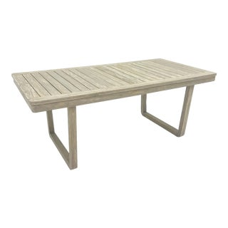 Mid-Century Modern Distressed Teak Dining Table For Sale