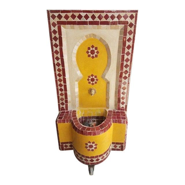Moroccan Tri-Color Mini Fountain For Sale