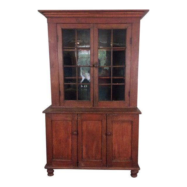 Antique Primitive Step Back Cupboard - Antique Primitive Step Back Cupboard Chairish