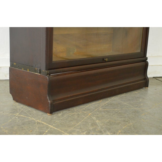 Globe Wernicke Antique Mahogany 4 Section Barristers Stacking Bookcase - Image 12 of 13