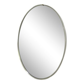 Mid-Century Modern Turner Mfg. Oval Chrome Mirror For Sale