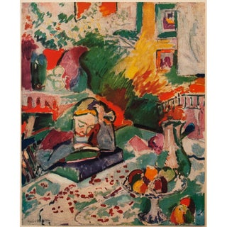 "1940s Henri Matisse Original Swiss Lithograph ""Reading"" For Sale"