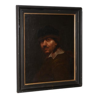 Antique Oil Portrait of a Young Rembrandt For Sale