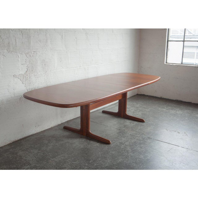 Mid-Century Modern 1960s Mid-Century Modern Long Teak Dining Table For Sale - Image 3 of 6