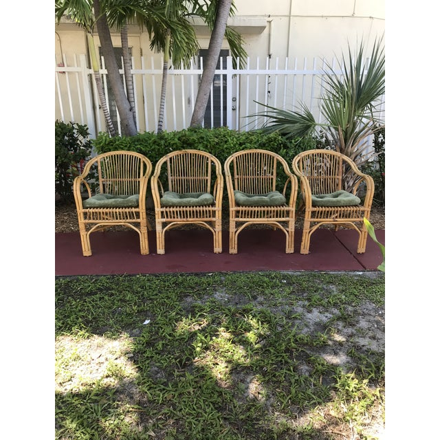 1960s Vintage Bamboo Arm Chairs- Set of 4 For Sale - Image 13 of 13