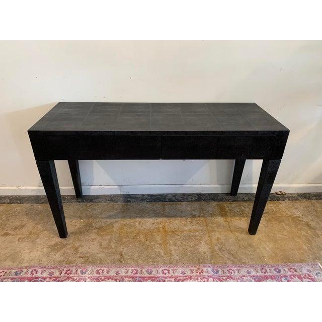 Made Goods Black Faux Shagreen Desk For Sale - Image 9 of 9