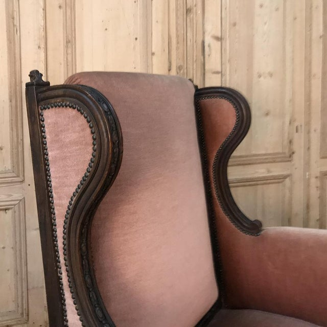 Wood 19th Century French Louis XVI Grand Armchair ~ Bergere For Sale - Image 7 of 11