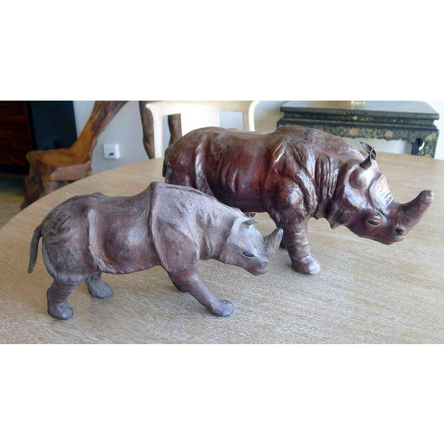 Leather Rhinos Abercrombie & Fitch Style For Sale - Image 9 of 9