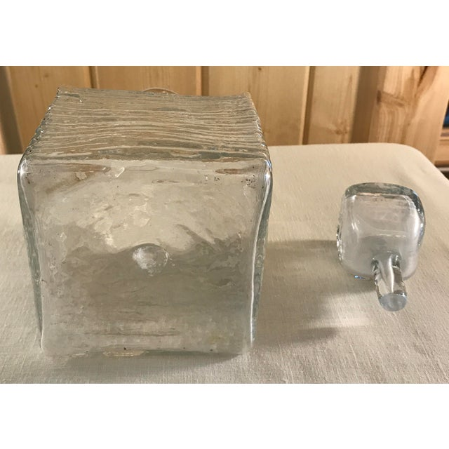 Mid-Century Modern Blown Decanter with Stopper - Image 8 of 9