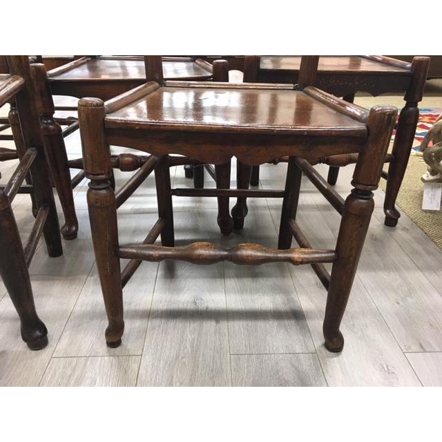 Mid 19th Century Oak Side Chairs- Set of Eight For Sale - Image 5 of 7
