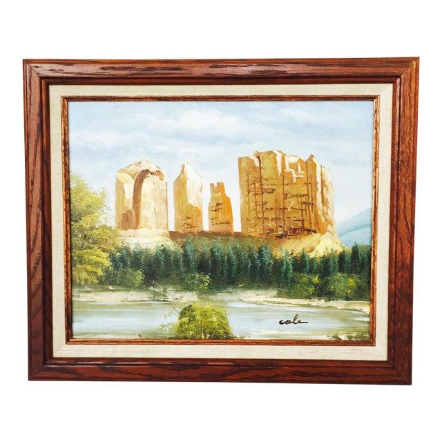 Vintage Southwestern Landscape Oil Painting For Sale