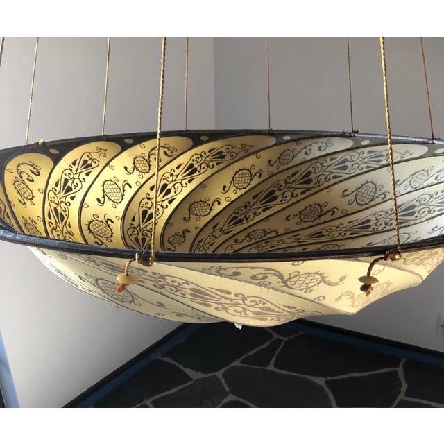 Fortuny original hanging silk parasol chandelier chairish 2000s fortuny original hanging silk parasol chandelier for sale image 5 of 12 aloadofball Choice Image