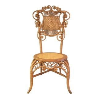 Heywood Wakefield Victorian Wicker Chair For Sale