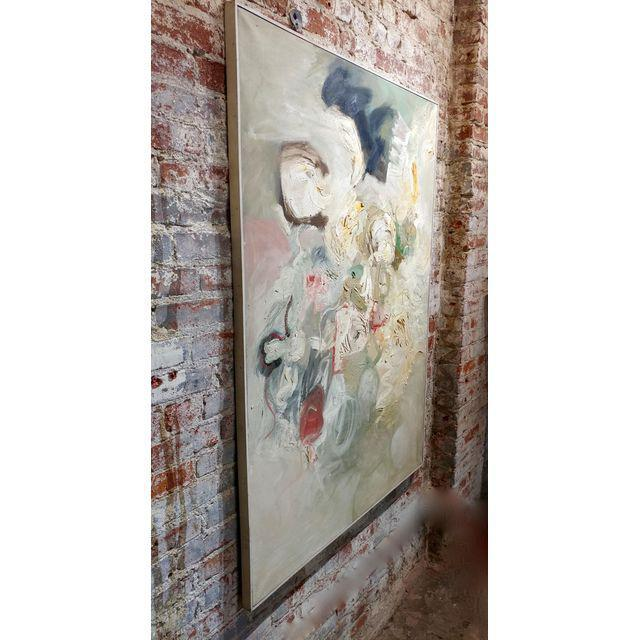 White Joan Jacobs - 1959 Abstract Oil Painting For Sale - Image 8 of 11