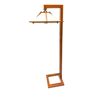 Vintage Authentic Frank Lloyd Wright Taliesin Tall Statement Piece Floor Lamp, by Yamagiwa For Sale