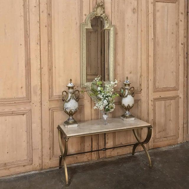 Italian 19th Century Italian Louis XVI Painted & Gilded Mirror For Sale - Image 3 of 11